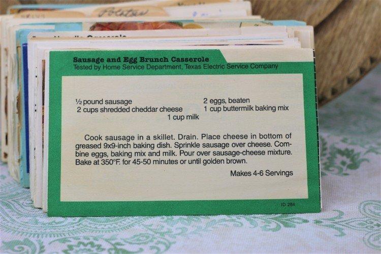 Sausage and Egg Brunch Casserole