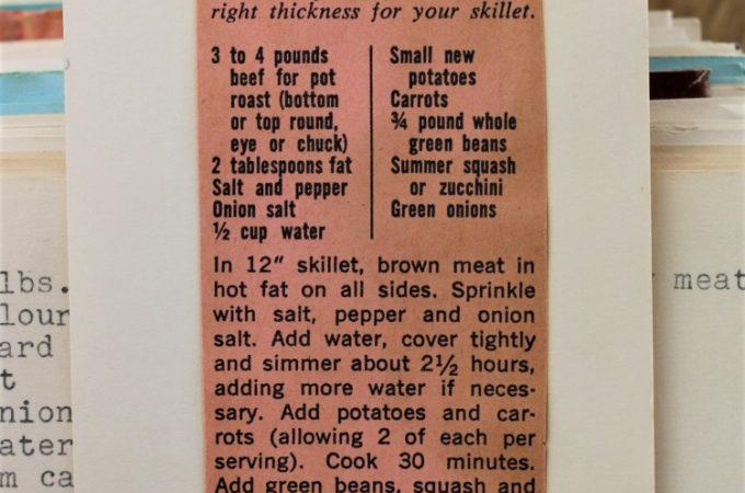 Skillet Pot Roast With Vegetables