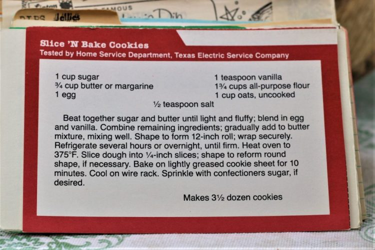 Slice 'n Bake Cookies
