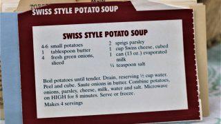 Swiss Style Potato Soup