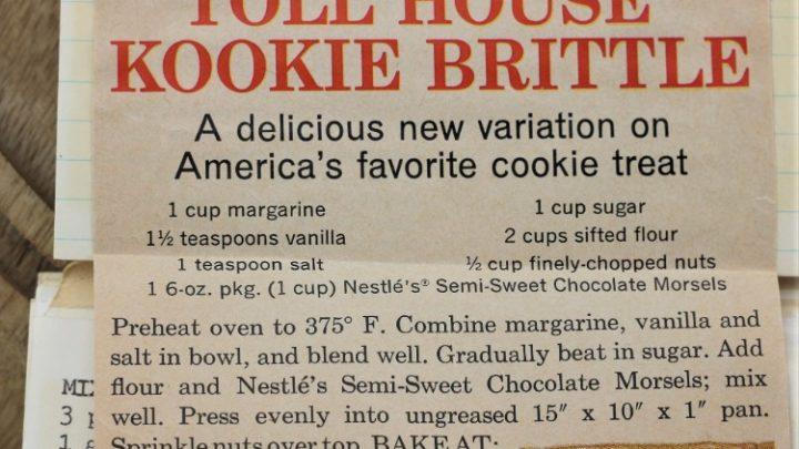 Toll House Kookie Brittle
