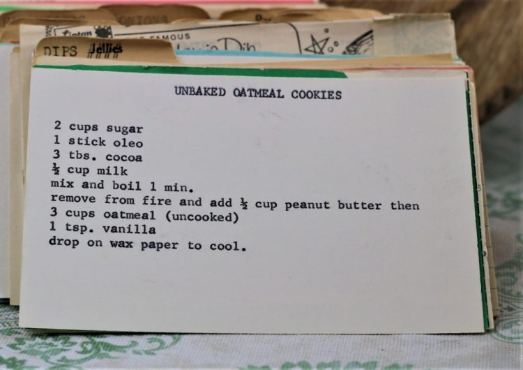 Unbaked Oatmeal Cookies
