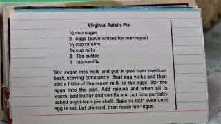 Virginia Raisin Pie