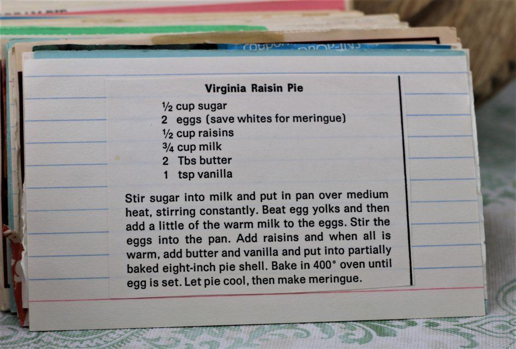 Virginia Raisin Pie