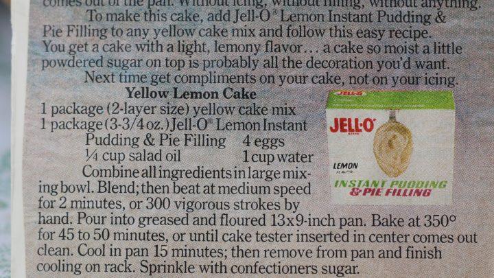 Yellow Lemon Cake e1543790685465
