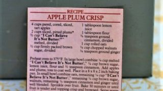 Apple Plum Crisp
