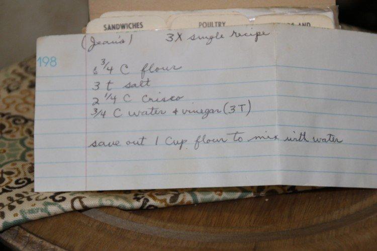Jean's Pie Crust