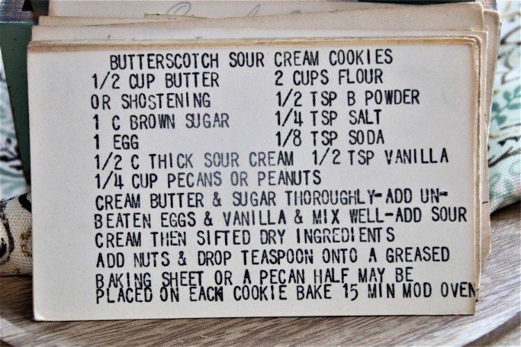 Butterscotch Sour Cream Cookies