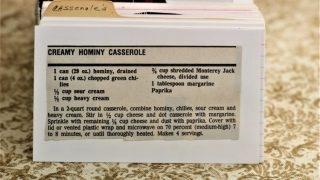 Creamy Hominy Casserole