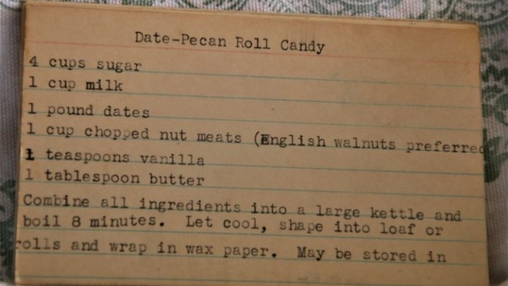 Date Pecan Roll Candy