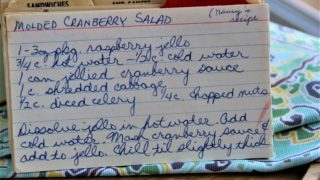 Molded Cranberry Salad