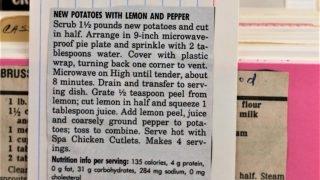 New Potatoes in Lemon and Pepper