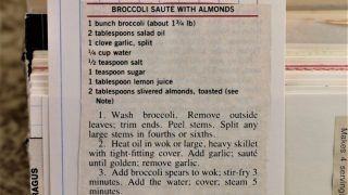 Broccoli Saute With Almonds