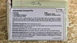 Imposible Coconut Pie