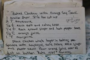 Baked Chicken With Orange Soy Sauce