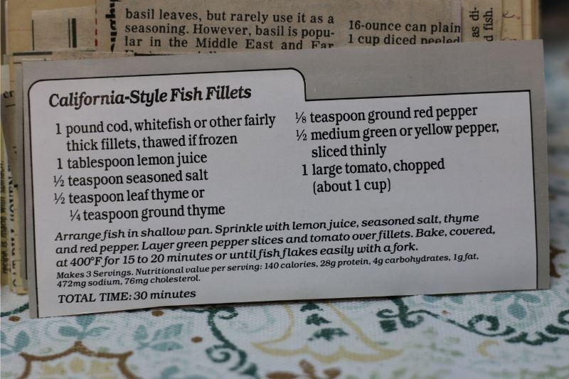 California Style Fish Fillets