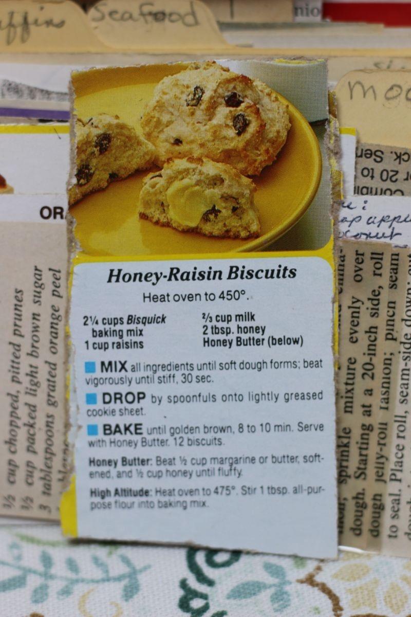 Honey Raisin Biscuits