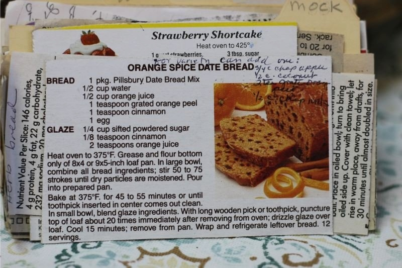 Orange Spice Date Bread