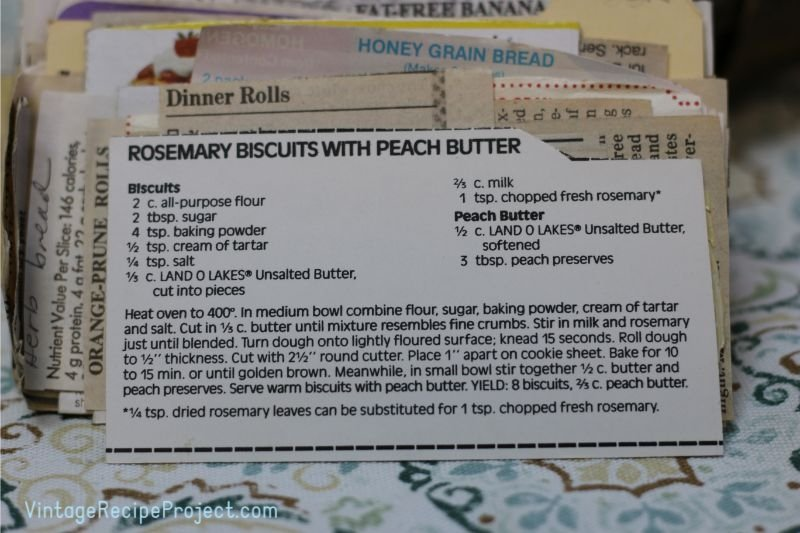 Rosemary Biscuits with Peach Butter