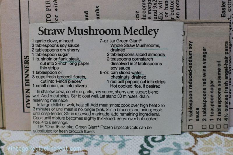 Straw Mushroom Medley