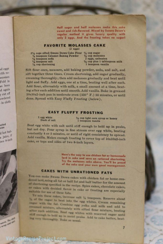 Favorite Molasses Cake