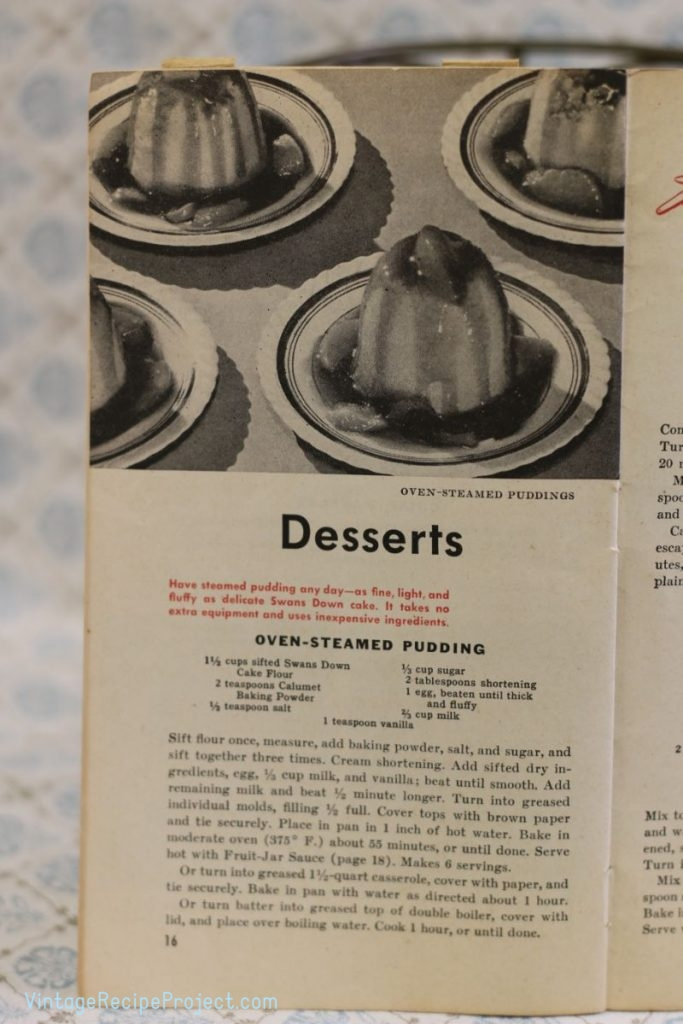 Oven-Steamed Pudding