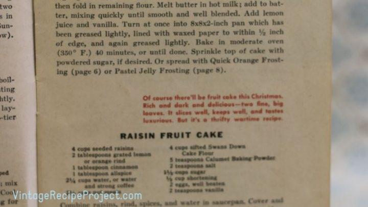 Raisin Fruit Cake scaled