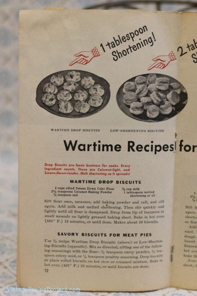 Wartime Drop Biscuits