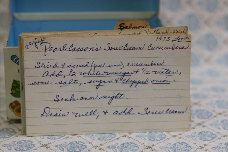 Pearl Casson's Sour Cream Cucumbers