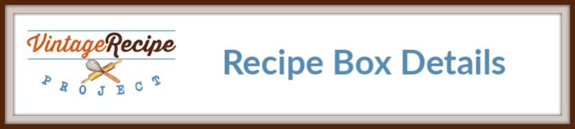 recipe box details