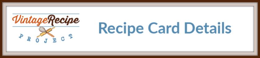 recipe card details