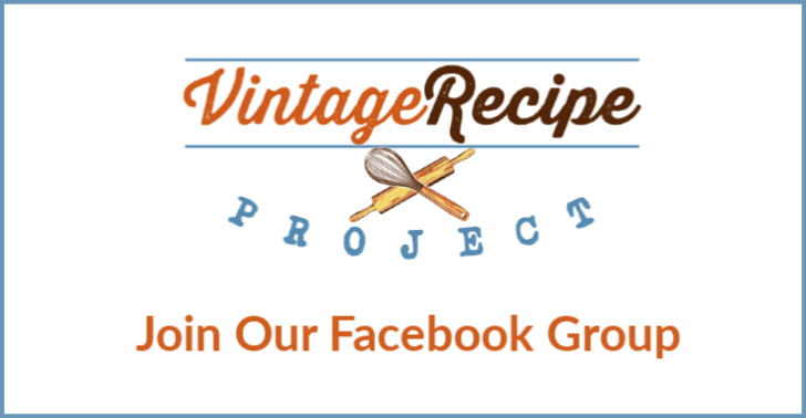vintage recipe project on facebook