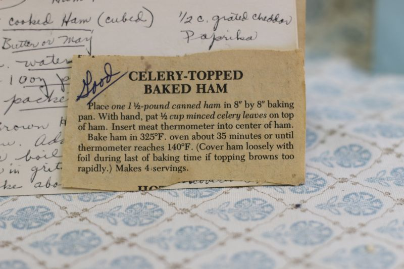 celery topped baked ham