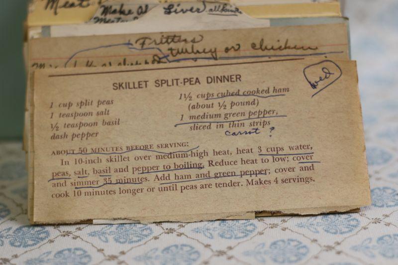 skillet split pea dinner