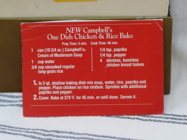 Campbells One-Dish Chicken and Rice Bake