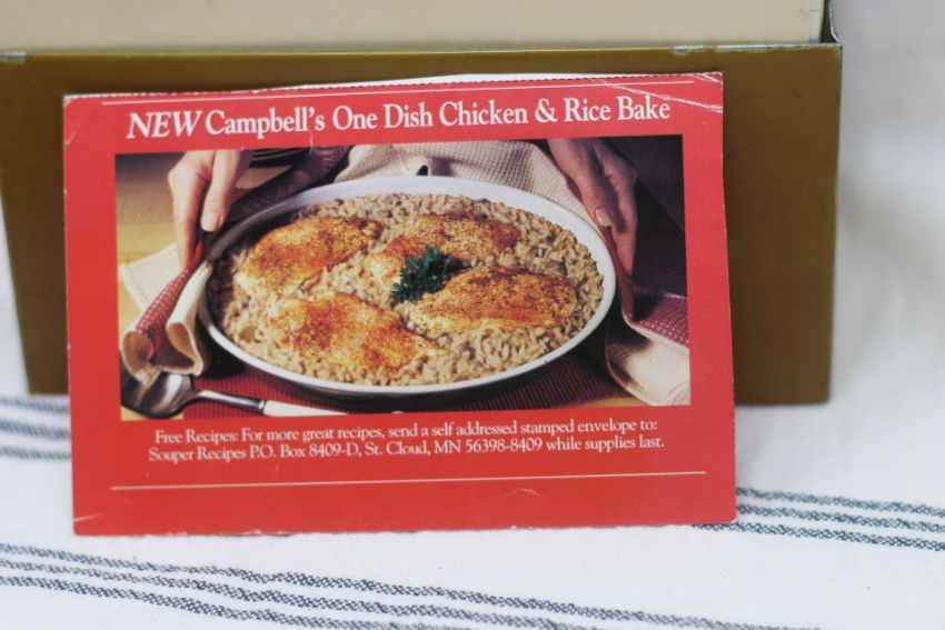 Campbells One Dish Chicken And Rice Bake Vintage Recipe Project