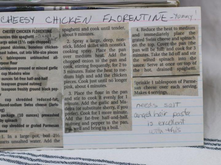 Cheesy Chicken Florentine
