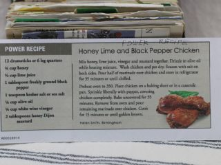 Honey Lime and Black Pepper Chicken