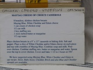 Maytag Cheese of Choice Casserole