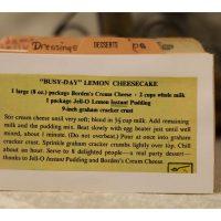 Busy Day Lemon Cheesecake